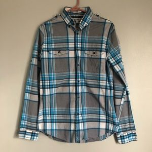 Men's Multi Color Express Button Down Shirt